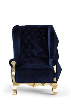 Royal Stranger Velvet Pink Armchair by Royal Stranger - 1273154