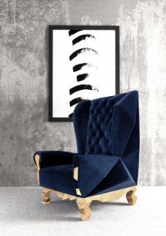 Royal Stranger Velvet Pink Armchair by Royal Stranger - 1273155