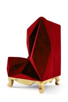 Royal Stranger Velvet Pink Armchair by Royal Stranger - 1273156