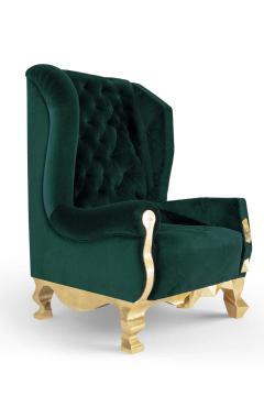 Royal Stranger Velvet Pink Armchair by Royal Stranger - 1273157