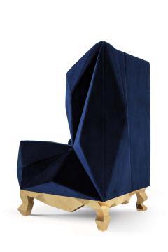 Royal Stranger Velvet Pink Armchair by Royal Stranger - 1273159