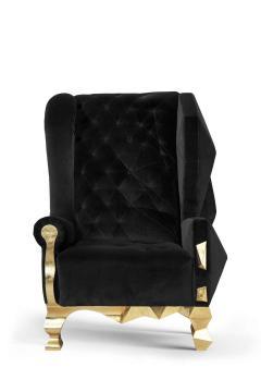 Royal Stranger Velvet Pink Armchair by Royal Stranger - 1273160