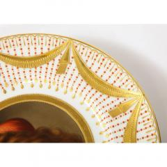 Royal Vienna Porcelain Exceptional Set of Five Royal Vienna Jeweled Porcelain Portrait Plates by Wagner - 1110886