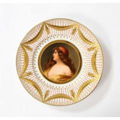 Royal Vienna Porcelain Exceptional Set of Five Royal Vienna Jeweled Porcelain Portrait Plates by Wagner - 1110887