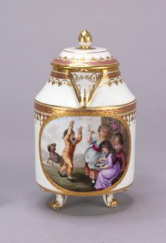 Royal Vienna Porcelain Vienna Porcelain Covered Milk Jug c 1794 - 1343694