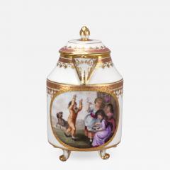 Royal Vienna Porcelain Vienna Porcelain Covered Milk Jug c 1794 - 1344573