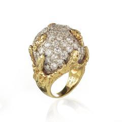 Ruser Jewelry William Ruser RUSER DIAMOND DOME PLATINUM 18K YELLOW GOLD BOMBE 6 00CTTW RING - 1744641