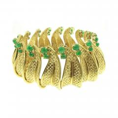 Ruser Ruser Emerald Gold Bracelet - 423624