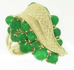 Ruser Ruser Gold and Emerald Ring - 420108