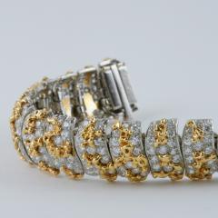 Ruser Ruser Mid 20th Century Diamond and Gold Bracelet - 230700