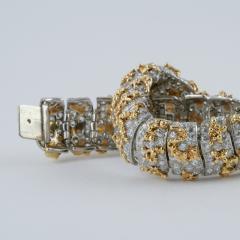 Ruser Ruser Mid 20th Century Diamond and Gold Bracelet - 230701