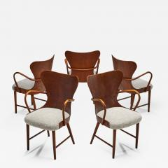 S ren Hansen Soren Hansen Set of Five Armchairs by S ren Hansen for Fritz Hansen Denmark 1943 - 1612522