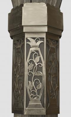 Sabino Art Glass Pair of French Art Deco Monumental Flair Shaped Glass Wall Sconces - 465299