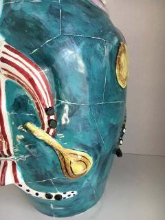 San Polo San Polo Venezia Italian Harlequin Ceramic Vase - 1725839