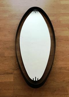 Santambrogio De Berti 1950s Oval Mirror in Iron by SantAmbrogio y de Berti - 423206