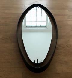 Santambrogio De Berti 1950s Oval Mirror in Iron by SantAmbrogio y de Berti - 423207