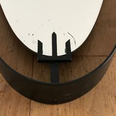 Santambrogio De Berti 1950s Oval Mirror in Iron by SantAmbrogio y de Berti - 423208