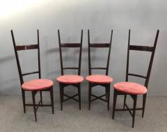 Santambrogio De Berti Charming Set of Four Dining Chairs by Santambrogio e De Berti - 1004194