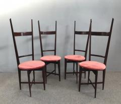 Santambrogio De Berti Charming Set of Four Dining Chairs by Santambrogio e De Berti - 1004195
