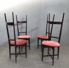 Santambrogio De Berti Charming Set of Four Dining Chairs by Santambrogio e De Berti - 1004196