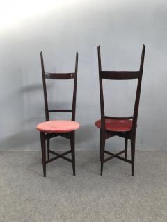 Santambrogio De Berti Charming Set of Four Dining Chairs by Santambrogio e De Berti - 1004197