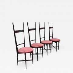 Santambrogio De Berti Charming Set of Four Dining Chairs by Santambrogio e De Berti - 1155749