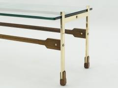 Santambrogio De Berti Rare Italian Santambrogio De Berti brass rosewood Coffee Table 1960s - 1565154