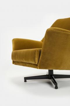 Saporiti Augusto Bozzi Swivel chair Saporiti Italy 60s - 2067516