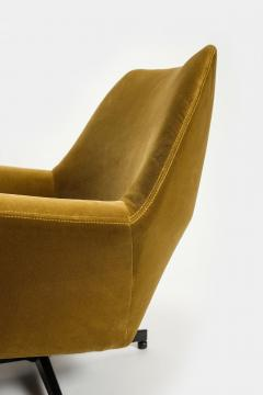 Saporiti Augusto Bozzi Swivel chair Saporiti Italy 60s - 2067519