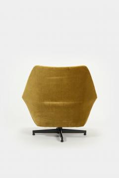 Saporiti Augusto Bozzi Swivel chair Saporiti Italy 60s - 2067538