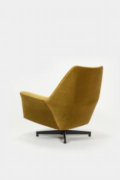 Saporiti Augusto Bozzi Swivel chair Saporiti Italy 60s - 2067539