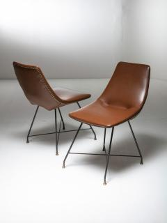 Saporiti Pair of Aster chairs by Augusto Bozzi for Saporiti - 1179246