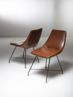 Saporiti Pair of Aster chairs by Augusto Bozzi for Saporiti - 1179247