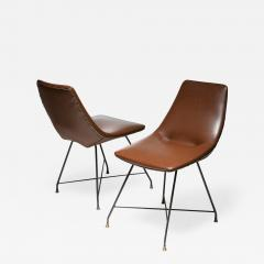 Saporiti Pair of Aster chairs by Augusto Bozzi for Saporiti - 1179743