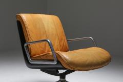 Saporiti Saporiti Cognac Leather Lounge Chairs 1970s - 1421073