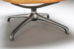 Saporiti Saporiti Cognac Leather Lounge Chairs 1970s - 1421076