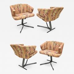 Saporiti Saporiti Set Of 4 Sculptural Dining Game Chairs 1970s Signed  - 1463077