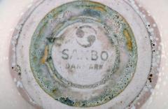Saxbo Bowl in glazed ceramics Beautiful eggshell glaze - 1411901
