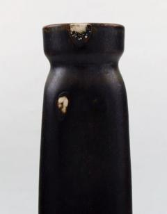 Saxbo Edith Sonne Bruun for Saxbo pottery vase beautiful dark brown aubergine glaze - 1303813