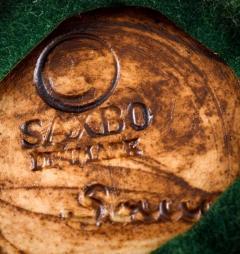 Saxbo Edith Sonne Bruun for Saxbo pottery vase beautiful dark brown aubergine glaze - 1303822