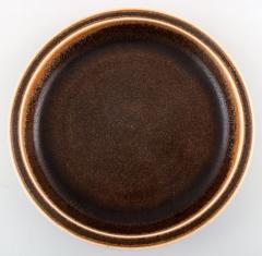 Saxbo Large ceramic dish bowl beautiful brown glaze - 1411965