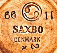 Saxbo Large ceramic dish bowl beautiful brown glaze - 1411966