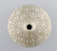 Saxbo Large round vase with geometric pattern Narrow neck - 1303774