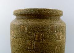 Saxbo Saxbo large stoneware vase in modern design glaze in yellow brown tones - 1303806
