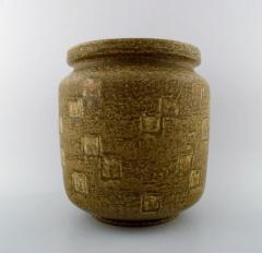 Saxbo Saxbo large stoneware vase in modern design glaze in yellow brown tones - 1303808