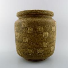 Saxbo Saxbo large stoneware vase in modern design glaze in yellow brown tones - 1303810