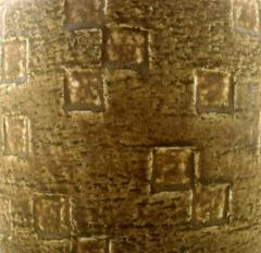 Saxbo Saxbo large stoneware vase in modern design glaze in yellow brown tones - 1303811