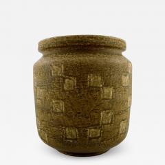 Saxbo Saxbo large stoneware vase in modern design glaze in yellow brown tones - 1308833