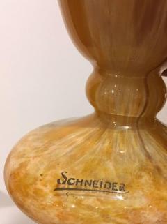 Schneider Pair of Glass Blown Vases circa 1910 Signed SCHNEIDER - 408394