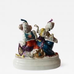 Schwarzburg Werkstatten Turkish Pair Turkenpaar By Hugo Meisel - 397222